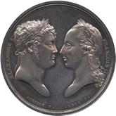 フランス ナポレオン1世  アウステルリッツの会戦戦勝 記念銀メダル[Tone UNC]【裏面】