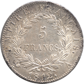 フランス ナポレオン1世 5フラン銀貨[AU/UNC]【裏面】