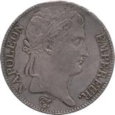 フランス ナポレオン1世 5フラン銀貨  百日天下[Toned EF]