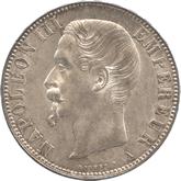 フランス ナポレオン3世 5フラン銀貨[UNC]