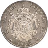 フランス ナポレオン3世 5フラン銀貨[UNC]【裏面】