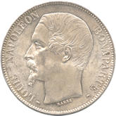 フランス ルイ・ナポレオン 5フラン銀貨[UNC]
