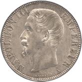 フランス ナポレオン3世 5フラン銀貨[Tone UNC]