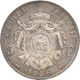 フランス ナポレオン3世 5フラン銀貨[Tone UNC]【裏面】