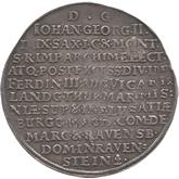 ドイツ ザクセン 2ターレル銀貨 ヨハン・ゲオルグ2世[Tone EF]【裏面】