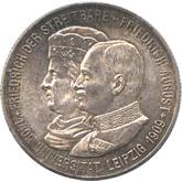 ドイツ ザクセン 2マルク銀貨  ライプツィヒ大学創設500年記念[UNC]