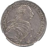 ドイツ バーデン 1ターレル銀貨[FDC]