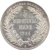 ドイツ領ニューギニア 極楽鳥 5マルク銀貨[EF]【裏面】