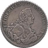 ドイツ プロイセン 1ピアストル銀貨 フリードリヒ2世[Tone EF+]