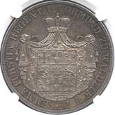 ドイツ ヴァルデック・ピルモント 2ターレル銀貨[AU/UNC]【裏面】