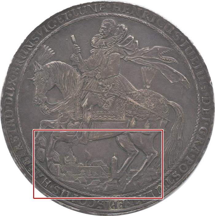 1609年のレーザーターレル(表・拡大図)