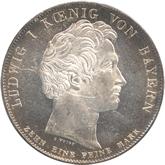 ドイツ バイエルン 国民への忠誠記念 1ターレル銀貨[UNC+]