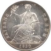 ドイツ バイエルン 国民への忠誠記念 1ターレル銀貨[UNC+]【裏面】