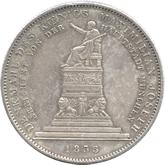 ドイツ バイエルン 王国初代国王像建立記念 1ターレル銀貨[-EF]