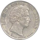 ドイツ バイエルン 王国初代国王像建立記念 1ターレル銀貨[-EF]【裏面】