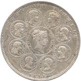ドイツ バイエルン  王族への天の祝福記念 1ターレル銀貨 [VF]