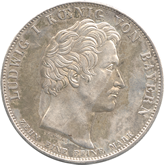 ドイツ バイエルン  王族への天の祝福記念 1ターレル銀貨 [VF]【裏面】
