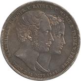 ドイツ  バイエルン 皇太子御成婚記念 2ターレル銀貨[EF+]