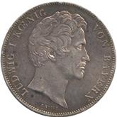 ドイツ バイエルン 皇太子御成婚記念 2ターレル銀貨[EF+]【裏面】
