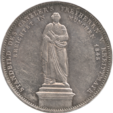 ドイツ バイエルン フォン・クライットマイル像建立記念 2ターレル銀貨[-EF]