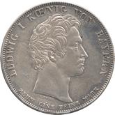 ドイツ バイエルン ヴュルテンベルグ関税同盟締結記念 1ターレル銀貨[-EF]【裏面】