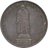 ドイツ バイエルン デューラー像建立記念 2ターレル銀貨[Toned EF+]