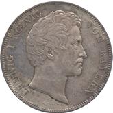 ドイツ バイエルン デューラー像建立記念 2ターレル銀貨[Toned EF+]【裏面】