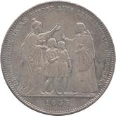 ドイツ バイエルン ベネディクト教団への学校寄進記念 1ターレル銀貨[Toned AU/UNC]