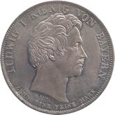 ドイツ バイエルン ベネディクト教団への学校寄進記念 1ターレル銀貨[Toned AU/UNC]【裏面】