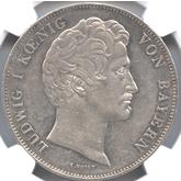 ドイツ バイエルン ルートヴィヒ運河開通記念 2ターレル銀貨[EF+/AU]【裏面】