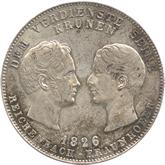 ドイツ ライヒェンバッハ、フラウンホーファー死去記念 1ターレル銀貨 [EF]