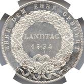 ドイツ バイエルン 地方立法府、自尊心への敬意 1ターレル銀貨[PL AU/UNC]【裏面】