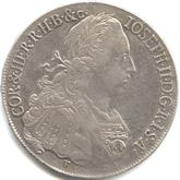 神聖ローマ帝国 ヨーゼフ2世 1ターレル銀貨[VF+]