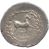 古代ギリシャ  アイオリス テトラドラクマ銀貨[VF]【裏面】