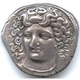 古代ギリシャ  ラリッサ テトラドラクマ銀貨[F]