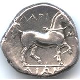 古代ギリシャ  ラリッサ テトラドラクマ銀貨[F]【裏面】