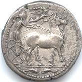 古代ギリシャ  メッサナ テトラドラクマ銀貨[VF+]