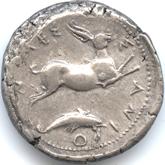 古代ギリシャ  メッサナ テトラドラクマ銀貨[VF+]【裏面】