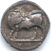 古代ギリシャ  ルカニア ノモス銀貨[EF]