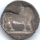 古代ギリシャ  ルカニア ノモス銀貨[EF]【裏面】