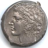 古代ギリシャ レンティーニ テトラドラクマ銀貨[EF+]