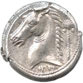 古代ギリシャ  カルタゴ テトラドラクマ銀貨[EF]【裏面】