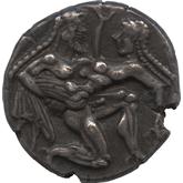 古代ギリシャ  トラキア地方タソス島 ステーター銀貨[VF]
