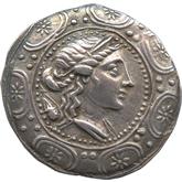古代ギリシャ  マケドニア・アンィポリス テトラドラクマ銀貨[Toned VF+]
