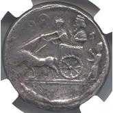 古代ギリシャ  シドン ダブルシュケル銀貨[VF+]【裏面】