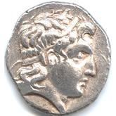 古代ギリシャ マケドニア アレクサンダー大王 テトラドラクマ銀貨[F+]