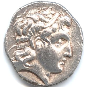 古代ギリシャ マケドニア アレクサンダー大王 テトラドラクマ銀貨【表面】