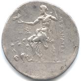 古代ギリシャ アレキサンダー3世 テトラドラクマ銀貨[F]【裏面】