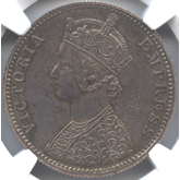 英領インド ヴィクトリア  1ルピー銀貨[Tone PF FDC]
