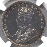 英領インド ジョージ5世 1ルピー銀貨[PF UNC]